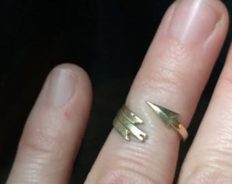 Arrow Ring - Wrapped Arrow Midi Ring - Gold Pinky Ring
