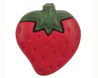 8 Strawberry 11/16 inch ( 18 mm ) Novelty Buttons