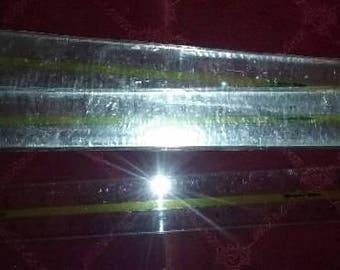 "15"" Clear Plastic Sturdy Flexible Advertising Ruler (SET OF THREE) 38cm"