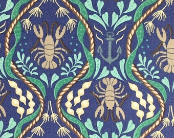 Lobsters - Harbour Side - Cotton Fabric - Lewis & Irene -  SL-02