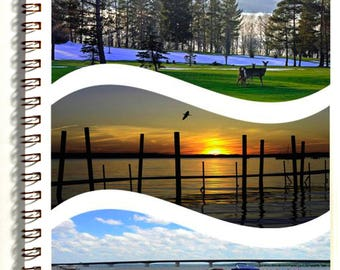 Around Chautauqua Lake Vacation Journal with 4 postcards - travel pack - photography - description pages - map -