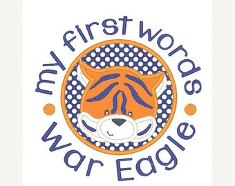 25% OFF Auburn War Eagle Applique Embroidery Design - Instant Download
