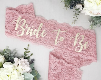 Lace Sash - Bride To Be Sash - Bachelorette Sash - Bachelorette Party - Bachelorette Party Sash - Bridesmaid Sash - Bride Gift -