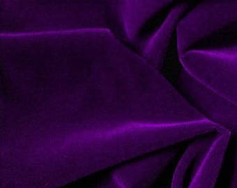 Triple Velvet Purple 45 Inch Fabric by the Yard, 1 yard