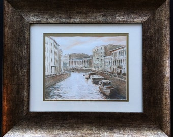 Framed picture of Moika, St. Petersburg, Russia