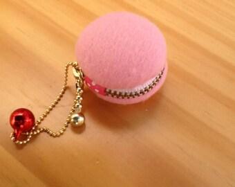 Strawberry Upcycled Japanese Fabric Macaron Case