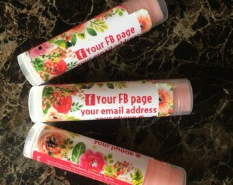 we are #1, 48 Personalized Lip Balm, chapstick, consultants gifts, thank you, live sales, business cards, promotional, Lip Joy