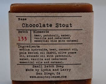 Chocolate Stout - Handmade Soap -- Beer Soap