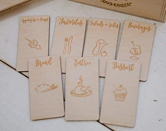 5x7 - CUSTOM engraved wood recipe card dividers