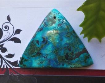 Beautiful Designer Chrysocolla Azurite Malachite  Pendants, Top Drilled,Grade AAA,Triangle Shape, Vibrant Turquoise color