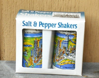 Chicago City Salt & Pepper Shakers - 90's New Old Stock Souvenir View