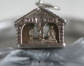Vintage Silver Nuvo Weather Charm Wet and Dry Man and Lady