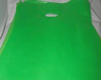 On Sale 9 x 12 Lime Green Merchandise bags 100 pack Low Density Plastic Retail Merchandise Gift Bags