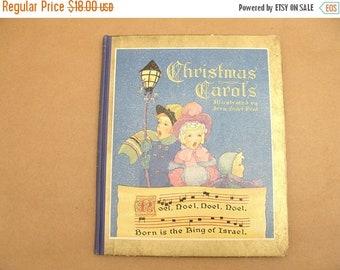 "ON SALE vintage 1938 ""Christmas Carols"" saalfield children's book illustrated by Fern Bisel Peat"