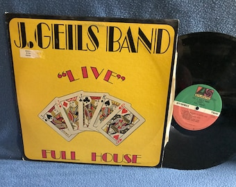 "Vintage, The J Geils Band - ""Full House"", Vinyl LP, Record Album, Original 1972 First Press, Whammer Jammer, Looking For A Love, Peter Wolf"