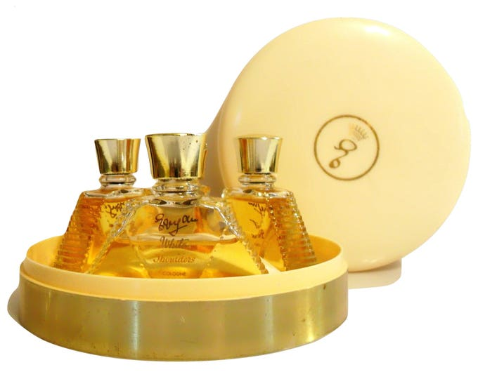 Vintage 1960s Most Precious, White Shoulders, Great Lady, Evyan Four Piece Perfume Gift Set