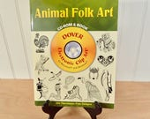 Dover Clip Art Book & CD-Rom Animal Folk Art Designs great for signs, menus, stationery, embroidery patterns, quilting applique