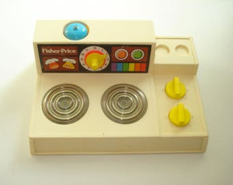 Fisher Price Stove Top - Cooking  - Burner Plates - Kitchen  - 1970's Fisher Price