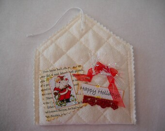 Gift card holders, gift card envelopes, fabric gift card holders, handmade, Christmas gift card holders