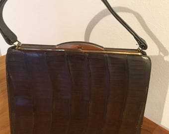 1940s or 1959s Reptile Skin Handbag