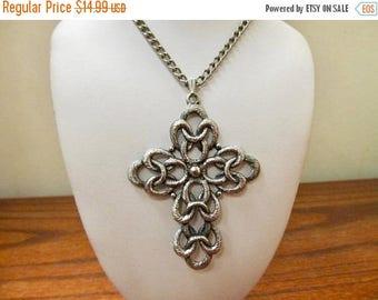On Sale SARAH COVENTRY Large Interlocking Cross Necklace Item K # 2178