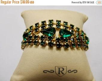 On Sale Vintage Sparkling Prong Set Rhinestone Bracelet Item K # 2138
