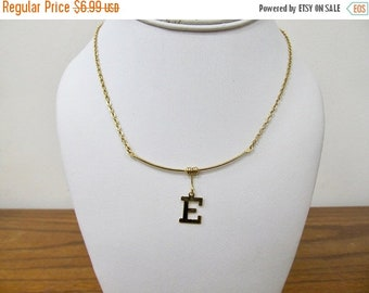 ON SALE Vintage Letter E Necklace Item K # 642