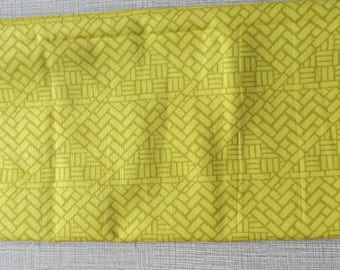 DESTASH of Fabric Central Park by Kate Spain for Moda Measures Approx. 18 by 22-3/4 Inches  Yellow Green Gridwork