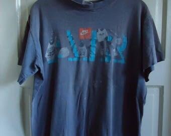 Vintage 80s Distressed NIKE AIR Jordan T Shirt sz S/M
