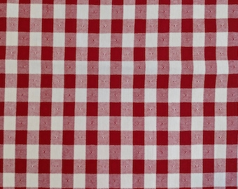 """Vintage Red Checked Tablecloth 53 """" x 89"""""""