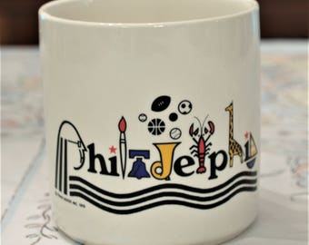 1976 Frank Nofer Philadelphia Mug Bicentennial Culture Art Mug Ben Franklin