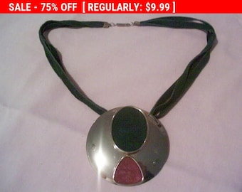 large pendant statement necklace, estate jewelry, hippie, boho