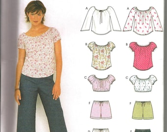 """Simplicity 9573 uncut size 12 - 18 """"Easy to sew"""" womans top,shorts and pants"""