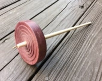 Large Whorl Purple Heart Spindle Made in the USA 2.0 oz.