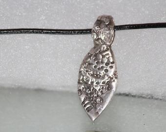 Textured Silver Pendant .925