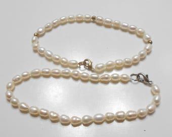 Two Vintage Freshwater Pearl Bracelets (2027)