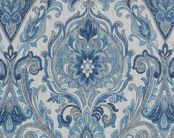 navy blue animal upholstery fabric fabric with lions blue. Black Bedroom Furniture Sets. Home Design Ideas