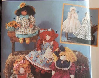Simplicity 9354, Stuffed Doll and Doll Clothes
