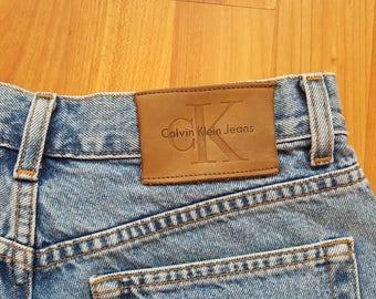 Calvin Klein Denim shorts Waist 30 inches 90s High waisted shorts Denim High waisted shorts Nr. 21