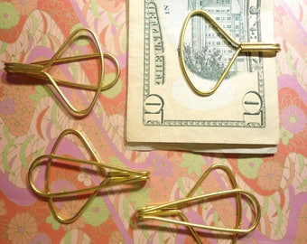 4 Brass Wire Money Clips