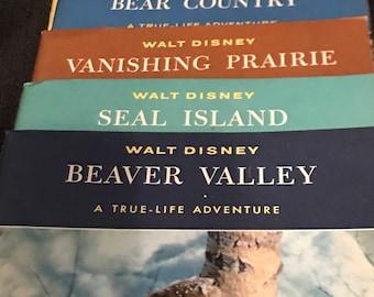 Vintage Walt Disney Books Children Walt Disney True Life Adventures 1958 Educational  Disney Books SALE PRICE was 30.00 now 15.00 1/2 price!