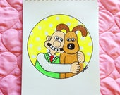 CUSTOM ORDER for Lynne--Wallace and Gromit Embroidery