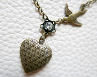 Necklace locket heart