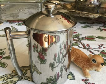 Vintage Metal/Stainless Steel- French Frieling Germany-Coffee Press Kitchen Tool