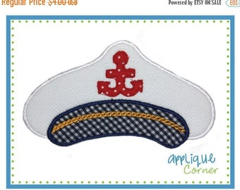 40% OFF 532 Nautical Captain's Hat applique digital design for embroidery machine by Applique Corner
