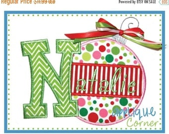 40% OFF 806 Christmas Ornament Alpha A-Z applique design in digital format for embroidery machine by Applique Corner