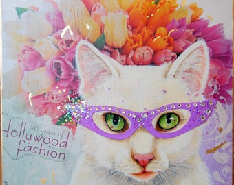 whimsical painting cats in eyewear high fashion