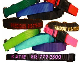 PersonaPersonalized Embroidered Nylon Adjustable Dog Collars ~ Guardian Gear Brand