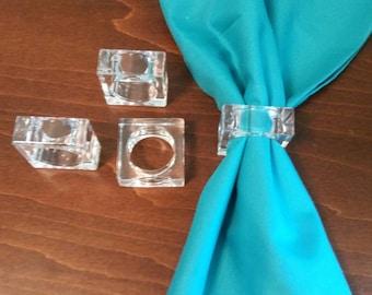Lucite Napkin Rings - Set of 4