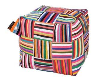 Handmade Colorful African Beanbag Ashanti 'Ejoro'